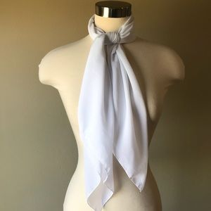 Vintage Solid White Square Scarf